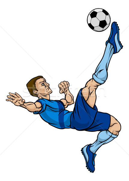 Cartoon Football Soccer Player Stock photo © Krisdog