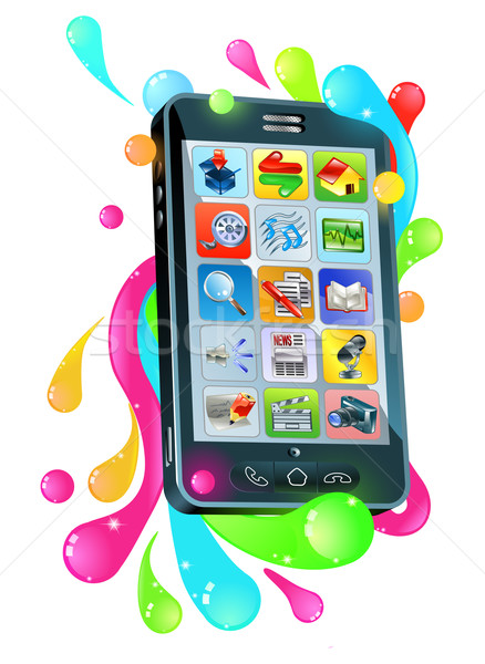 Funky mobile phone jelly bubble concept Stock photo © Krisdog