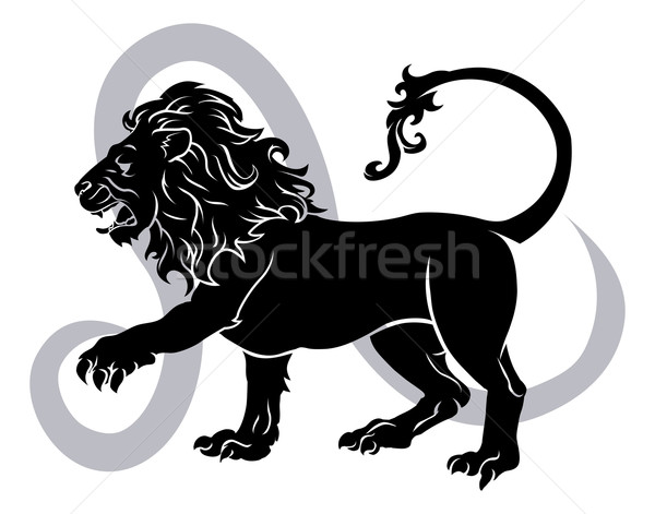 Leo zodiac horoscope astrology sign Stock photo © Krisdog
