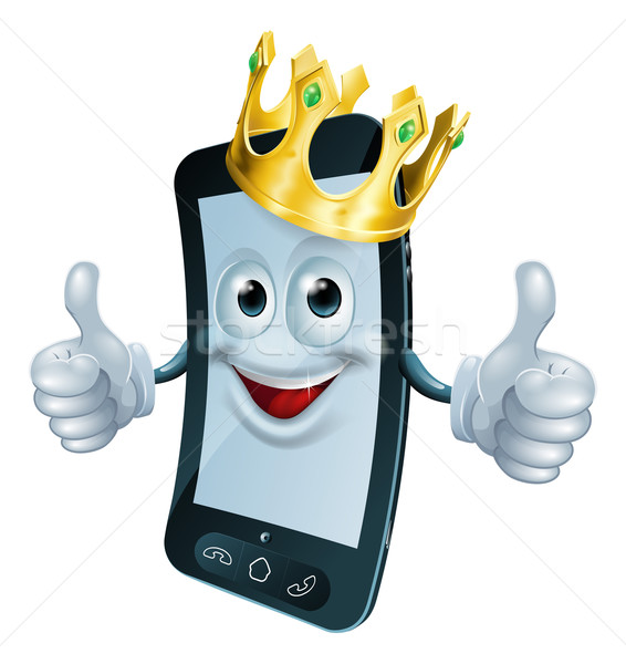 Phone man with crown Stock photo © Krisdog