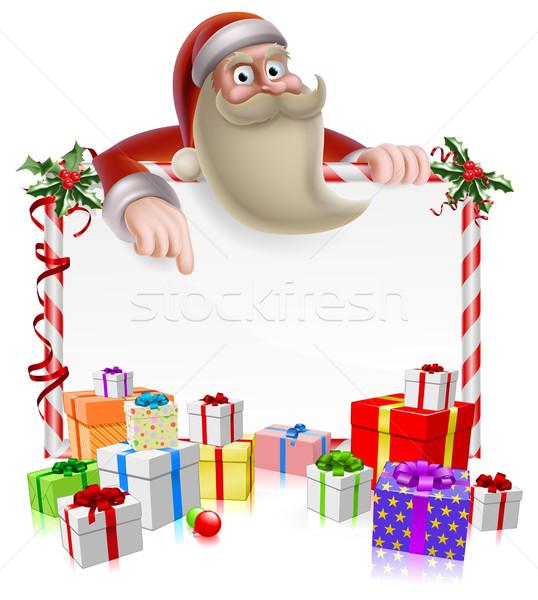 Santa Christmas Banner Stock photo © Krisdog