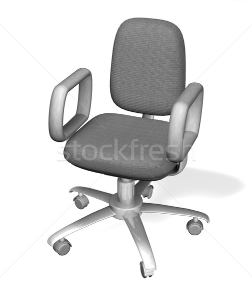 Illustration of an office chair Stock photo © Krisdog