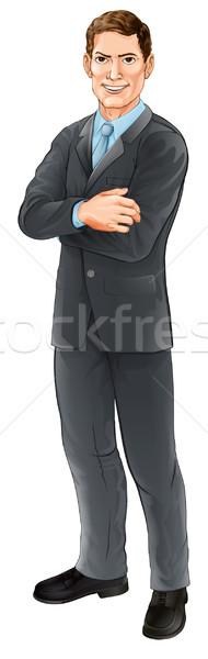 Businessman character Stock photo © Krisdog