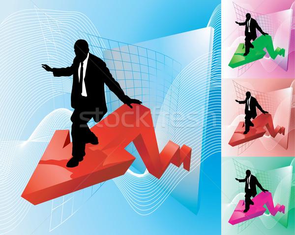 profit surfer business concept illustration Stock photo © Krisdog