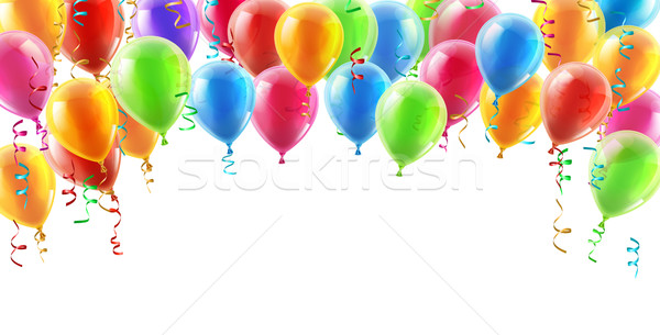 Balloons header background Stock photo © Krisdog