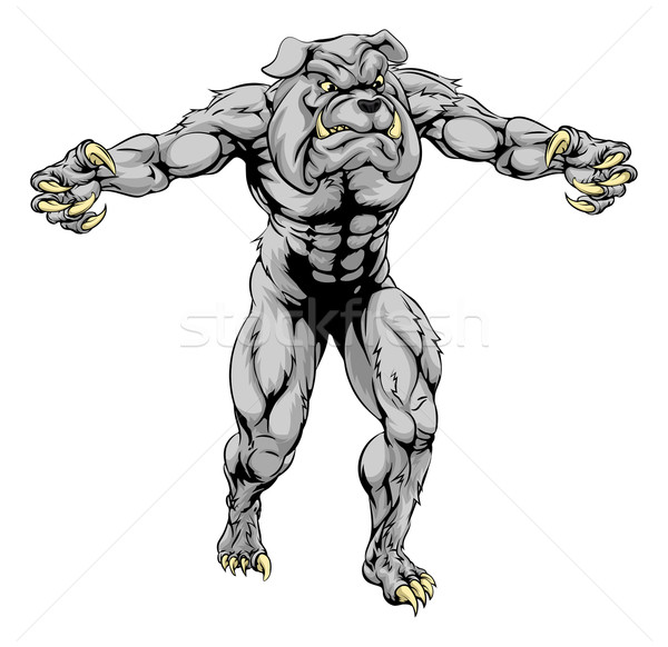 Bulldog scary sports mascot Stock photo © Krisdog