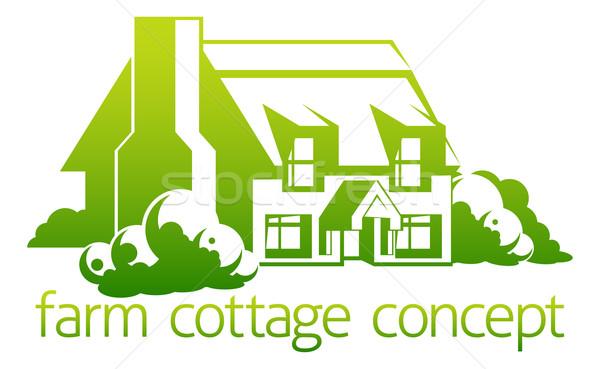 Farm cottage design Stock photo © Krisdog