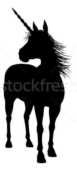 Silhouette Unicorn Stock photo © Krisdog