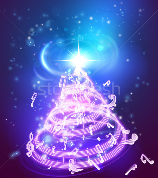 Stock photo: Music Christmas Tree