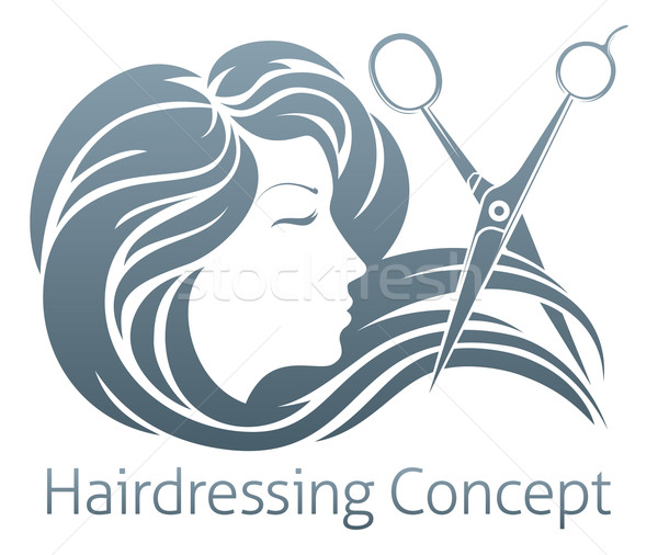 Hairdresser Woman Scissor Concept Stock photo © Krisdog
