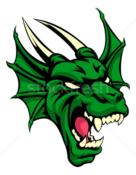 Dragon Mean Animal Mascot Stock photo © Krisdog