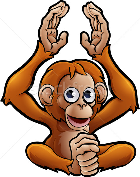 Orangutan Safari Animals Cartoon Character Stock photo © Krisdog
