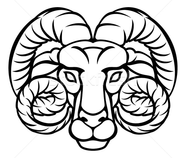 Aries Zodiac Sign Ram Stock photo © Krisdog