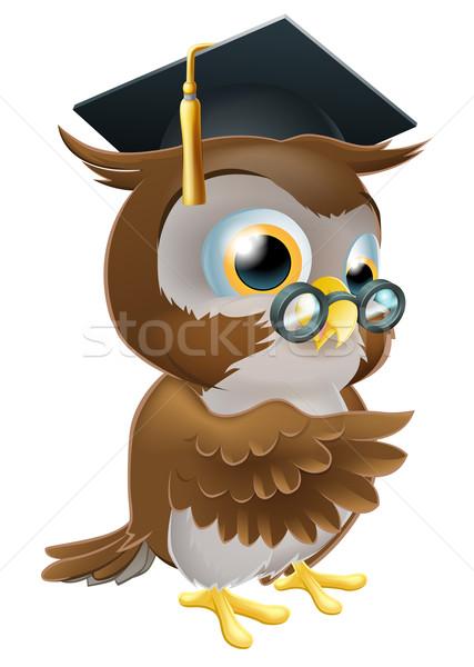 教授 フクロウ 実例 スマート 着用 ボード ストックフォト © Krisdog