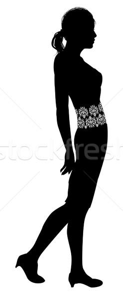 Woman profile silhouette  Stock photo © Krisdog