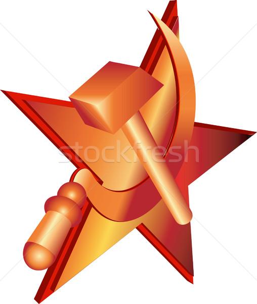 Hamer vector communist symbool partij Rusland Stockfoto © Krisdog