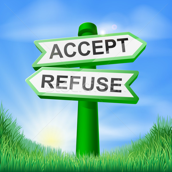 Accept or refuse sign in field Stock photo © Krisdog