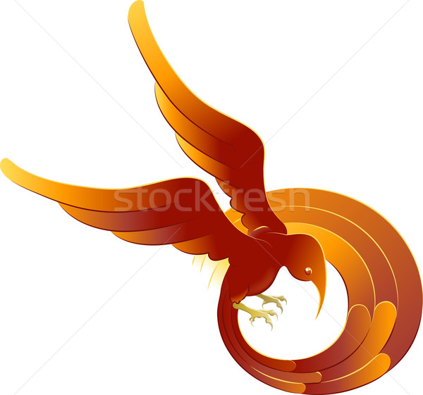 A swooping fiery bird Stock photo © Krisdog