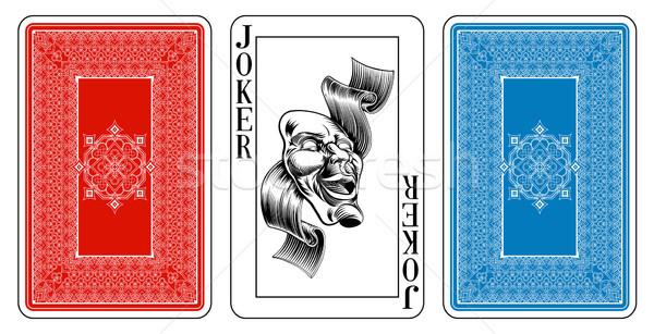 Bridge size Joker playing card plus reverse Stock photo © Krisdog