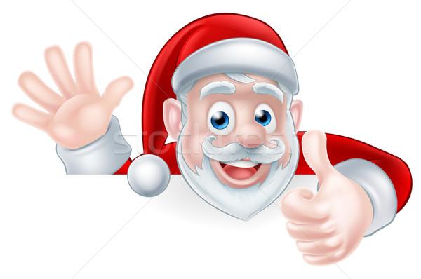 Santa Thumbs up Stock photo © Krisdog