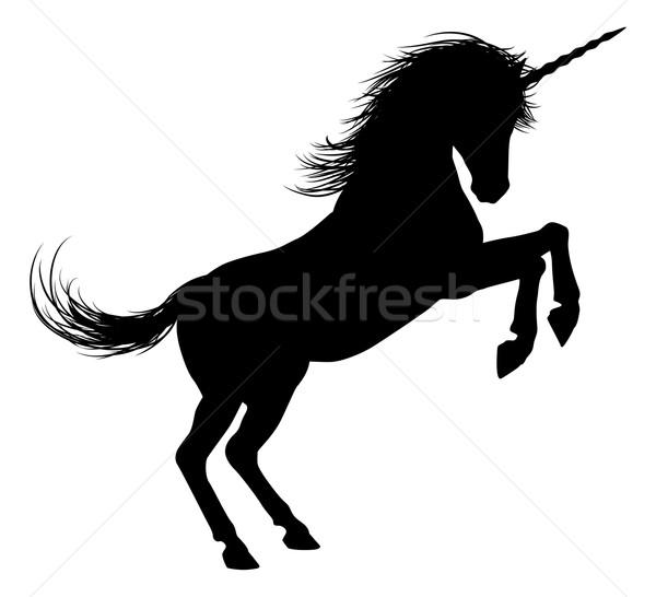 ног силуэта мифический лошади Постоянный фон Сток-фото © Krisdog