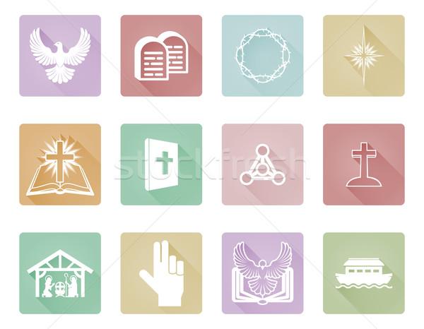 Set of Christian Icons Stock photo © Krisdog