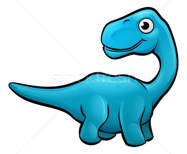 Diplodocus Dinosaur Cartoon Character Stock photo © Krisdog