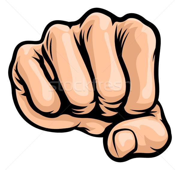 Pop Art Style Cartoon Fist Stock photo © Krisdog