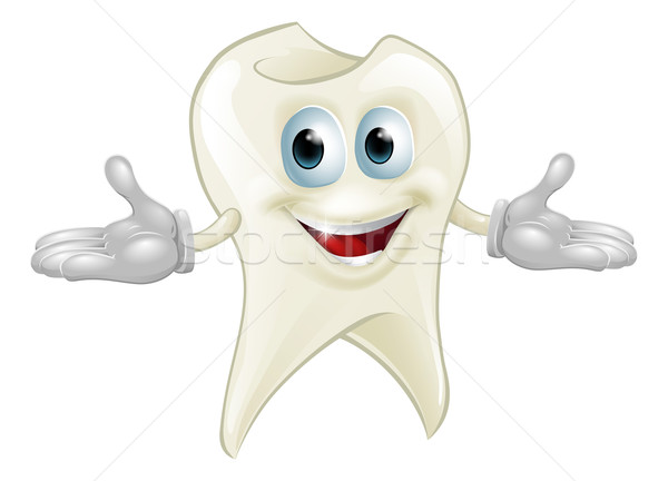 Cute tooth dental mascot Stock photo © Krisdog