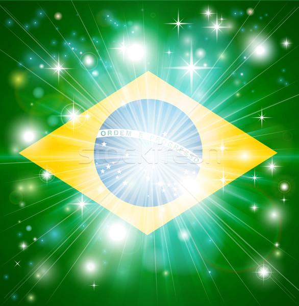 Brazilian flag background Stock photo © Krisdog