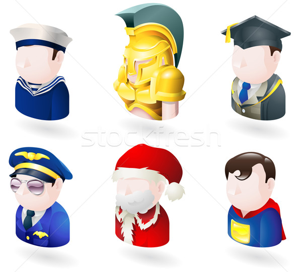 avatar people web icon set Stock photo © Krisdog