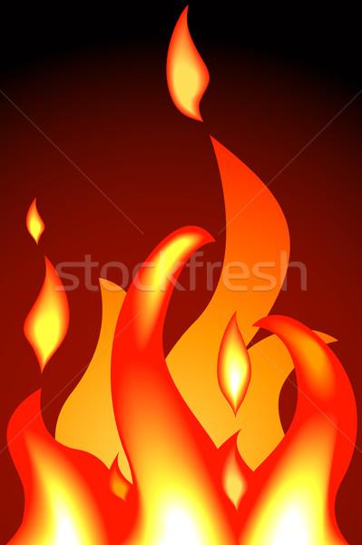 Llamas fuego no naranja rojo caliente Foto stock © Krisdog
