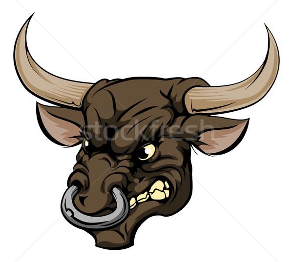 Bull mascot character Stock photo © Krisdog