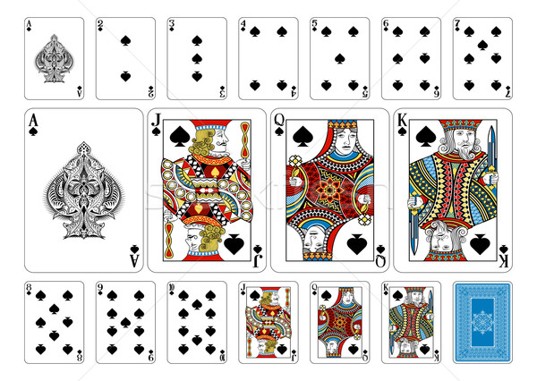 Poker size Spade playing cards plus reverse Stock photo © Krisdog