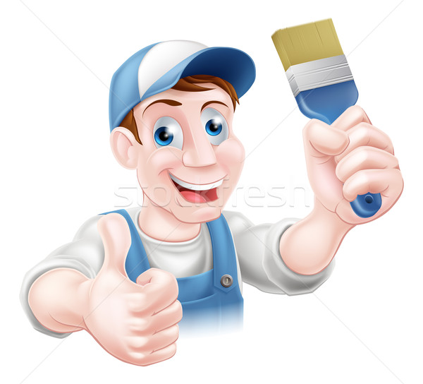 Man holding paintbrush Stock photo © Krisdog