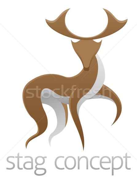 Stag deer concept design Stock photo © Krisdog