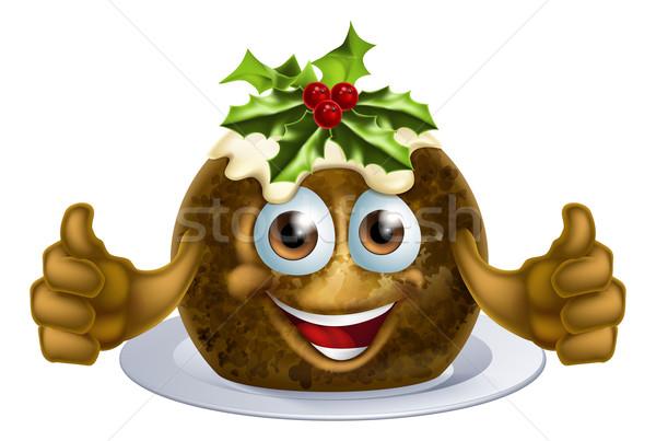 Christmas Pudding Cake Man Stock photo © Krisdog