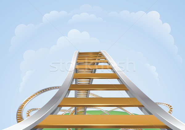 Stock photo: Roller coaster