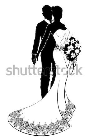 Bride Wedding Silhouette Stock photo © Krisdog