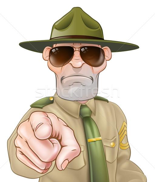 сердиться дрель сержант указывая иллюстрация характер Сток-фото © Krisdog