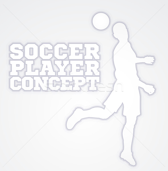 Heading Soccer Football Player Concept Silhouette Stock photo © Krisdog