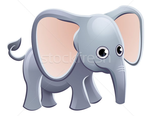 Elephant Animal Cartoon Character Stock photo © Krisdog