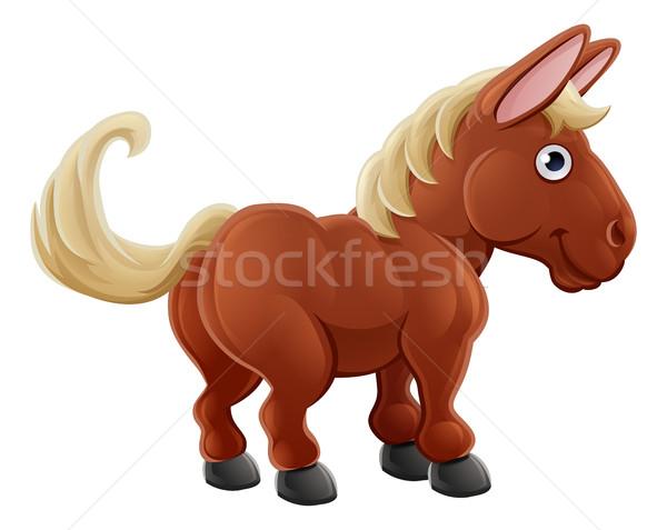 Cartoon Cute Horse Farm Animal Stock photo © Krisdog