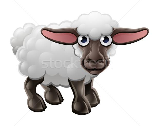 漫画 かわいい 羊 家畜 文字 赤ちゃん ストックフォト © Krisdog