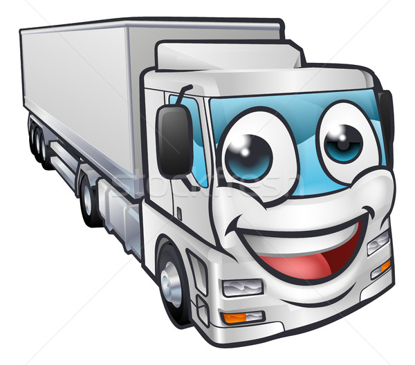 Cartoon camion transport mascotte personnage Photo stock © Krisdog