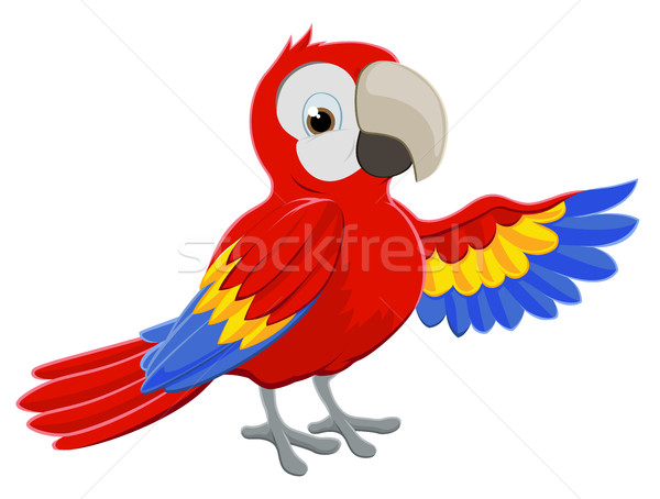 Cartoon Parrot Pointing Stock photo © Krisdog