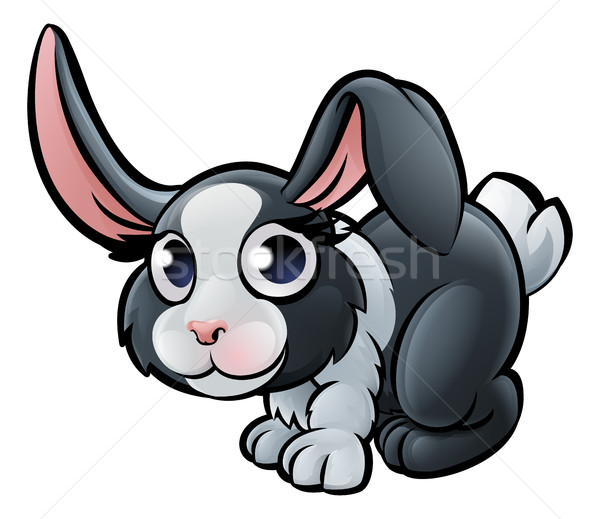 Stock photo: Rabbit Farm Animals Cartoon Character