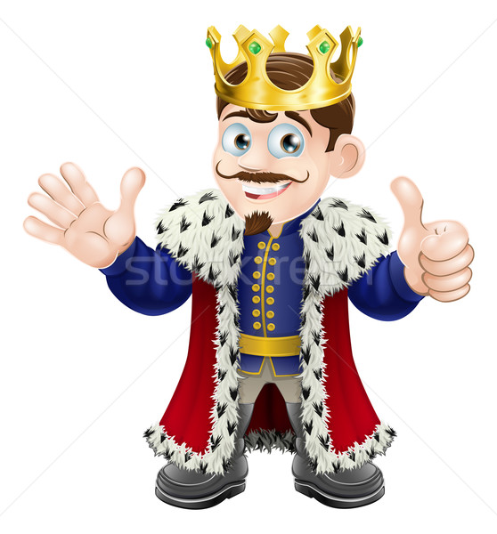 Cartoon King Mascot Stock photo © Krisdog