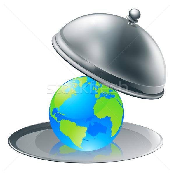The world on a plate Stock photo © Krisdog