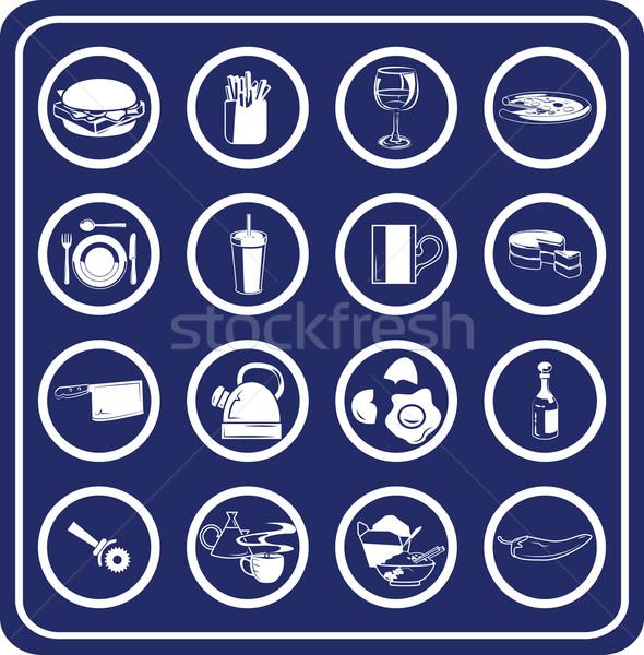 Food icon set Stock photo © Krisdog